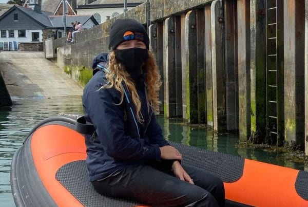 Padstow Sealife Tour Guide In Mask