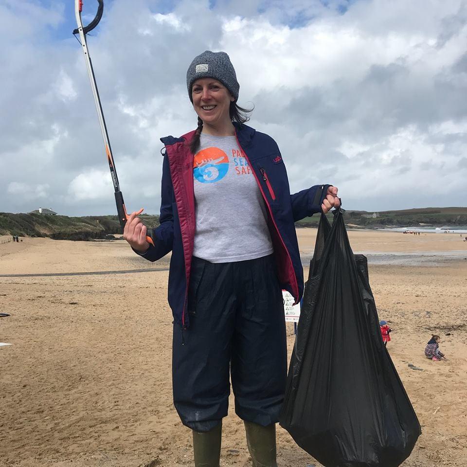 An organised Padstow Sea Life Safari beach clean this Spring.