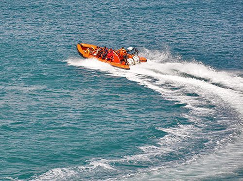 coastal power boat trips